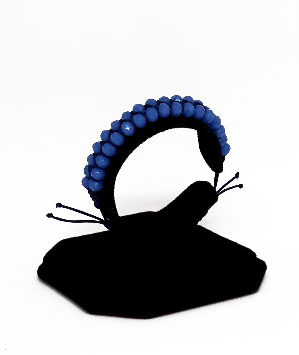 Brățară twist albastră