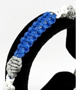 Brățară împletită albastră