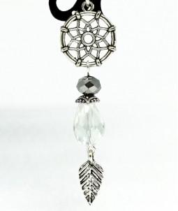 Breloc mandala cu cristal transparent