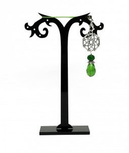 Breloc mandala cu cristal verde