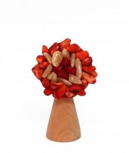 Broșă flower portocalie