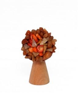 Broșă flower maro