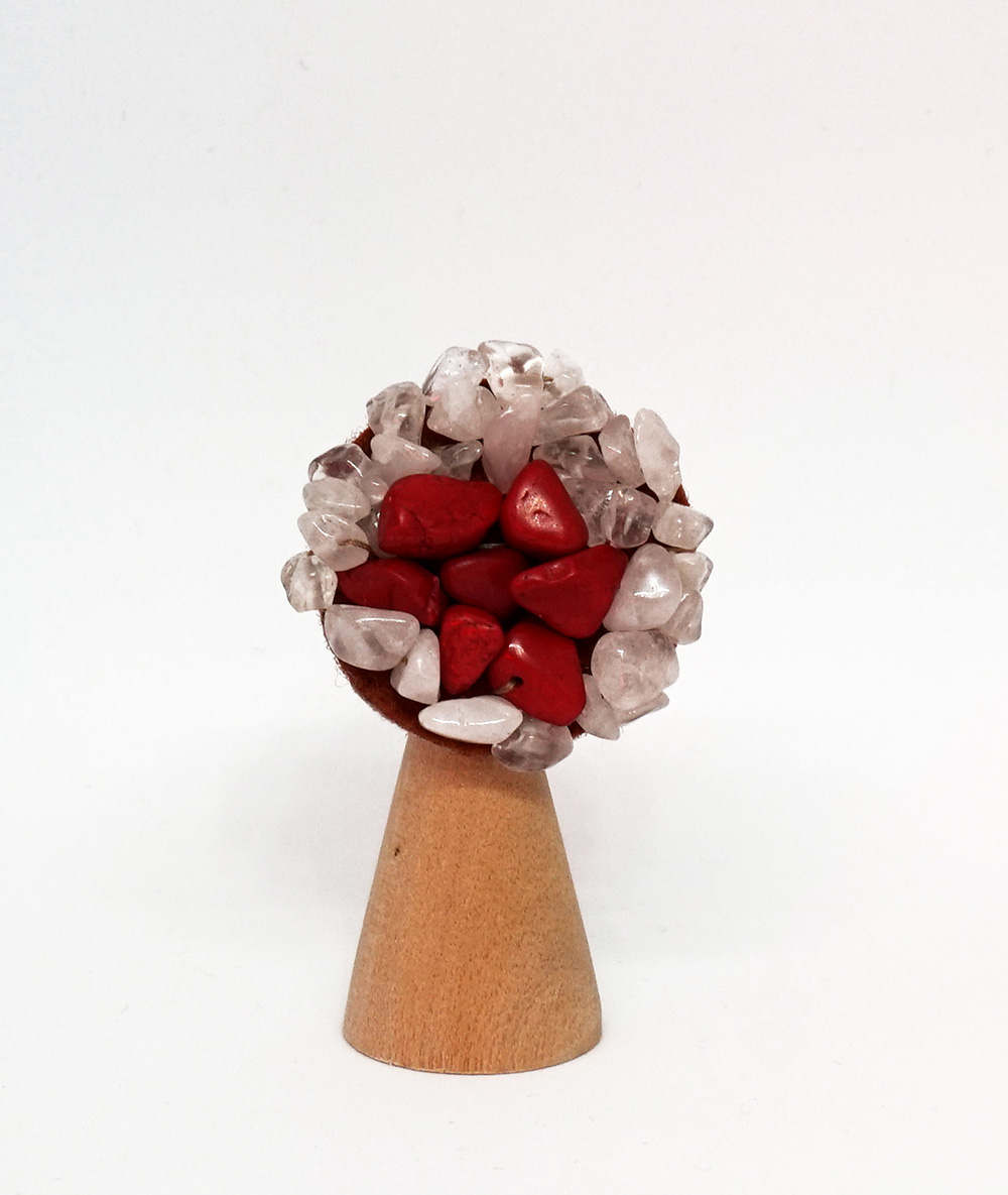 Broșă flower roșie