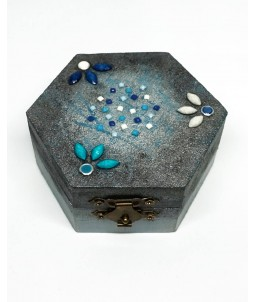 Casetuță de bijuterii hexagonală