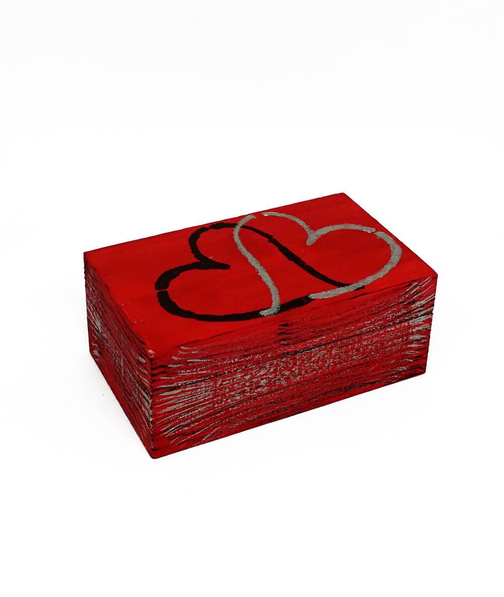 Casetuță de bijuterii roșie