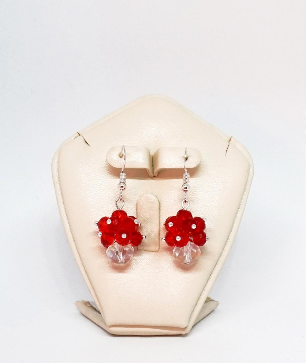 Cercei ciorchine rosii