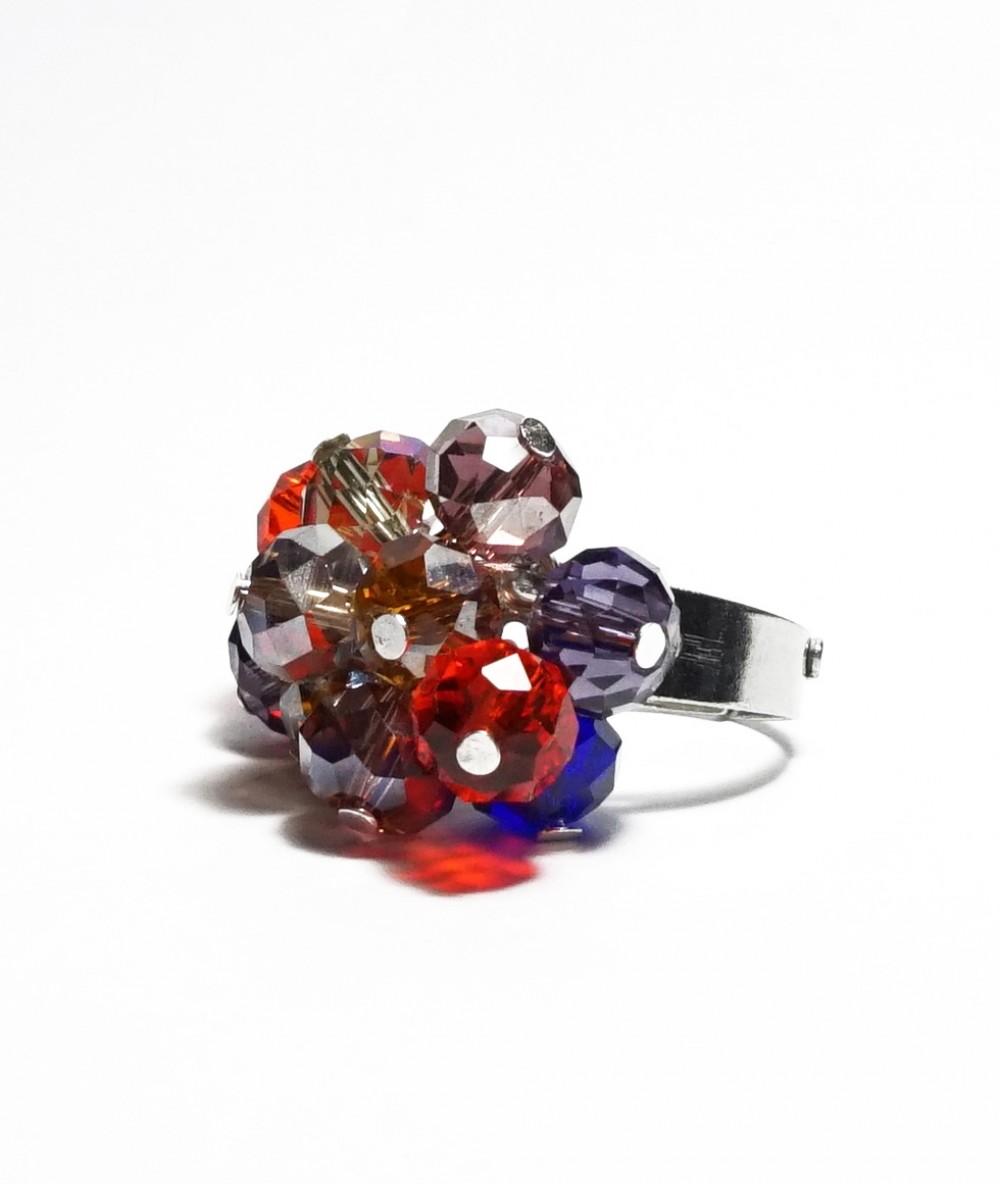 Inel cristale roșii