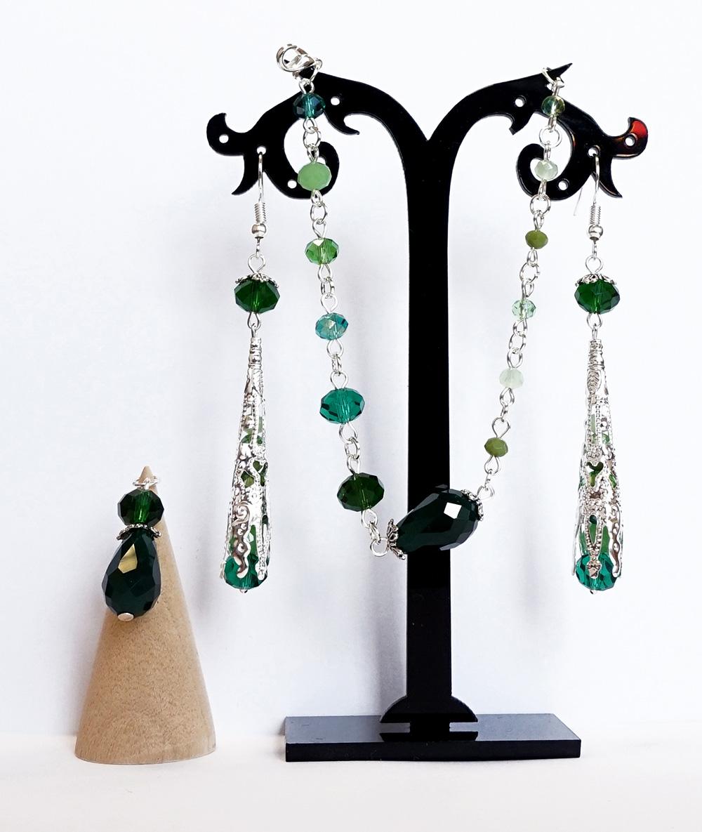 Set verde cristale